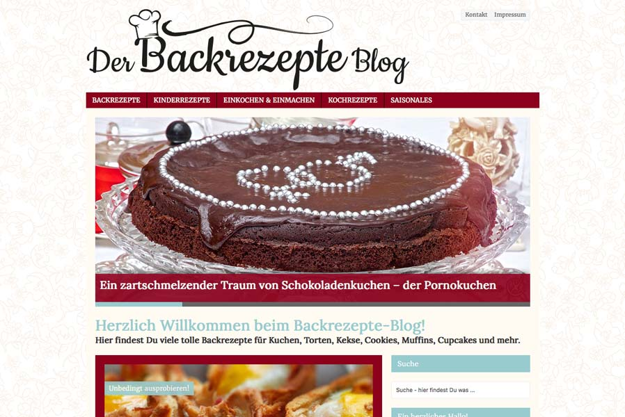 Foodblog - Backrezepte